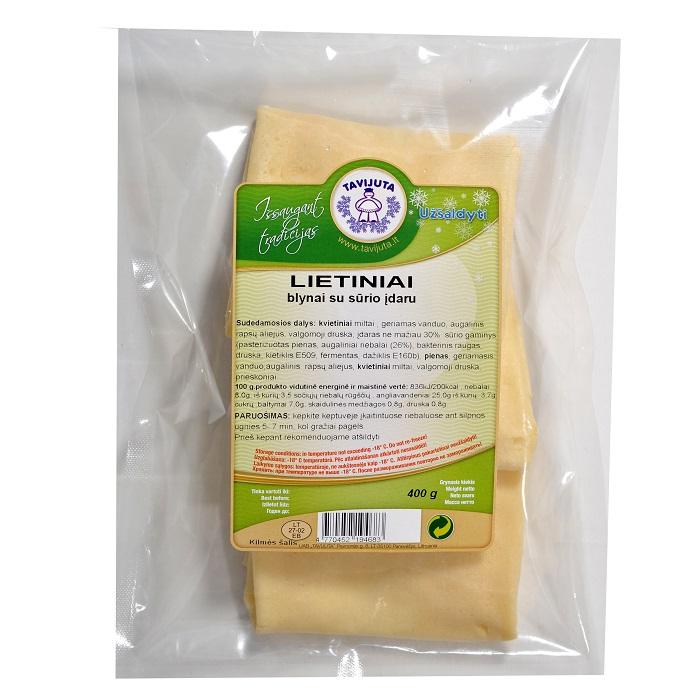 Lietiniai blynai su sūrio įdaru
