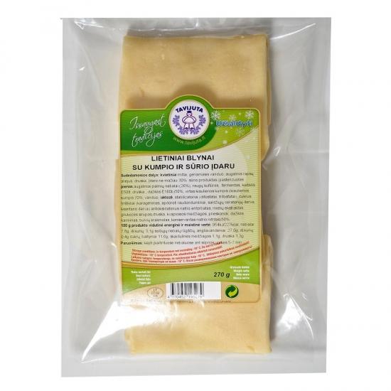 Lietiniai blynai su kumpio ir sūrio įdaru