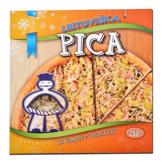 """Pica """"Lietuviška"""" su kumpiu ir ananasais"""